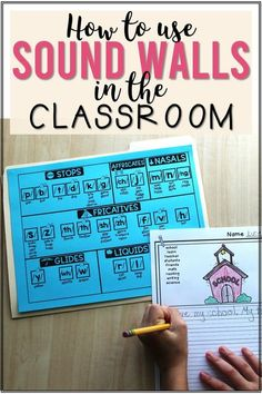 A guide for how to introduce and use a sound wall in your kindergarten, first, or second grade classroom and details about the Phoneme Sound Wall with Mouth Articulation Photos resource that has all the materials you need to create your own classroom sound wall. #teachingphonics #kindergarten #firstgrade