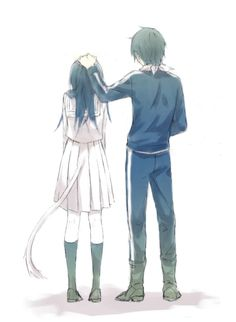 Fan Art of Yato and Hiyori for fans of Noragami.