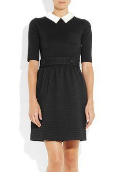 M Missoni | Knitted and silk-jacquard dress | NET-A-PORTER.COM