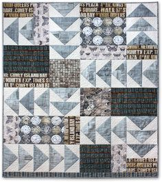 Eclectic Elements by Tim Holtz for Coats - Time Flies Quilt | Sew4Home