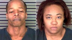 TARGETING COPS:  Couple planted fake bomb hoping to shoot officers.  Look at these air thieves.  Should be capital punishment IN EVERY STATE for the killing of a police officer PERIOD.