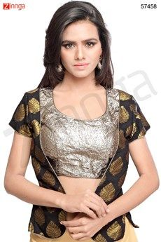 Blouses, Round Neck Style Shimmer Blouse For Womens Pakistani Suits, Anarkali Suits, Indian Blouse, Indian Wear, Blouse Patterns, Blouse Designs, Ethnic Suit, Hand Work Blouse, Blouse Styles