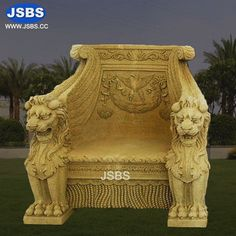 Stone Lion King Sofa   www.jsbluesea.com info@jsbluesea.com whatsapp|wechat:0086-13633118189 #stoneseat #lionseat #jsbsmarble #jsbsstone #JSBS #renovation #restoration #marbledecor #housedecor  #interiordecor Marble Columns, Stone Columns, Marble Carving, Stone Carving, Marble Fireplaces, Fireplace Mantels, Sofa King, Stone Lion, Stone Fountains