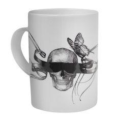 Masked Skull mug by Rory Dobner