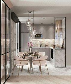 60 Genius Small Dining Room Design Ideas - Home Page Interior Design Kitchen, Interior Design Living Room, Living Room Decor, Kitchen Decor, Kitchen Ideas, Kitchen Dining, Kitchen Wood, Kitchen Colors, Ikea Interior