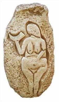 Venus of Laussel  - Dordogne, France,  22,000BC - Photo Museum Store Company
