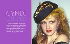 The Most Luscious Red Lips of All Time - Cindy Lauper
