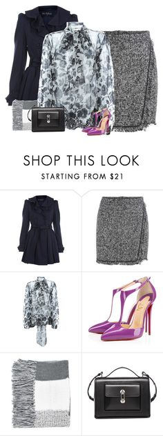 """""""Pop of Purple"""" by nillabinx ❤ liked on Polyvore featuring Miss Selfridge, Dolce&Gabbana, Christian Louboutin, Topshop and Balenciaga"""