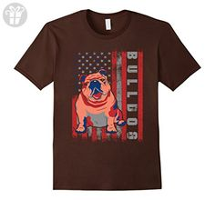 Mens Funny BULLDOG Dog American Vintage Retro Style T-Shirt 2XL Brown - Funny shirts (*Amazon Partner-Link)