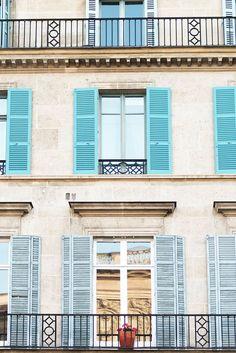 Paris Photography Blue Shutters Paris Architectural
