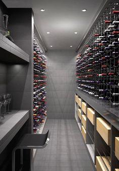 Cable Wine System Wine Cellar by {wine glas.- Cable Wine System Wine Cellar by {wine glass writer} Cable Wine System Wine Cellar by {wine glass writer} - Wine Cellar Design, Wine Design, Wine Cellar Modern, Caves, Home Wine Cellars, Wine Display, Wine Wall, Italian Wine, Wine Storage