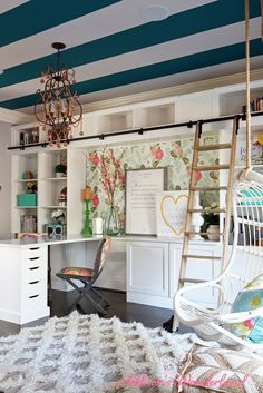Eclectic + Feminine Home Office of Addison's Wonderland {Office Tour} | The Office Stylist