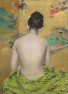 William Merritt Chase - Study of Flesh Colour and Gold [1888]