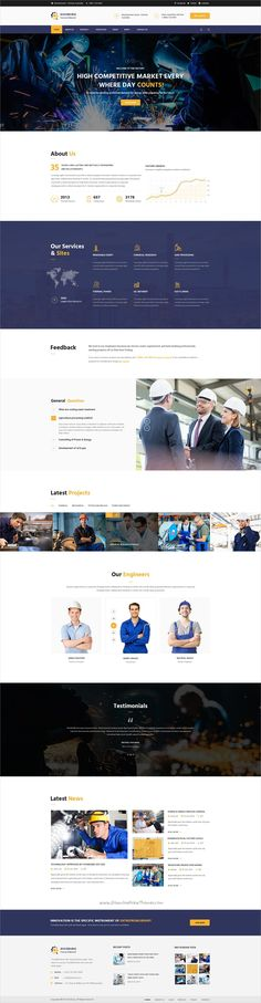 Duisburg is a wonderful #PSD Template suitable for #webdev all types of #Factory & Industries websites with 3 unique homepage layouts and 18 organized PSD pages download now➩ https://themeforest.net/item/duisburg-factory-psd-template/19269383?ref=Datasata