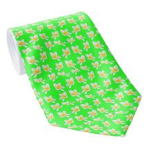 Yellow #Frangipanis On Green, #Tie