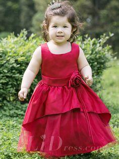 Little Girls Satin Performance Dress Luxurious Wedding Flower Princess Dress