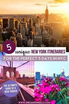 Looking for a 5 days in New York City Itinerary? You're in luck! I've created 5 customized NYC itineraries for 5 days that are tailored to various needs | New York Itinerary | New York city aesthetic | New York City Things to do in | New York City Photography | NYC aesthetic | NYC Itinerary 5 days | NYC Travel Guide | NYC Travel Photography | NYC Travel Tips | visit New York City | Visit NYC Bucket lists | Visit NYC like a local | NYC itinerary first time | NYC 5 day itinerary | NYC things… Travel Usa, Travel Tips, Travel Guides, Travel Articles, Nyc Itinerary, York Things To Do, Visiting Nyc, City Aesthetic, New York City Travel
