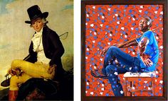paintings by Jacques-Louis David and Kehinde Wiley