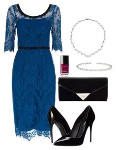 """black&blue"" by deliag ❤ liked on Polyvore featuring Monsoon, Dolce&Gabbana, JNB, Suzanne Kalan and Chanel"
