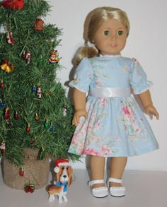 Doll Clothes for American Girl dolls Powder Blue by FrogBlossoms, $14.00