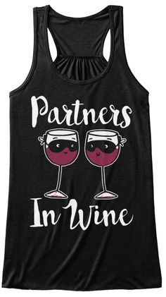Partners In Wine Black T-Shirt Front