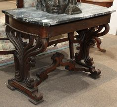 ~ Signed J and J.W Meeks rosewood foyer table ~ | liveauctioneers.com