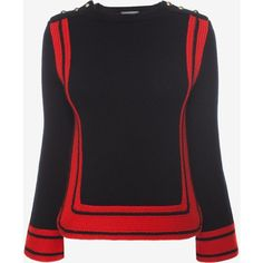Alexander McQueen Plain Knit Crew Neck Jumper ( 755) ❤ liked on Polyvore  featuring tops 7680c1ee93