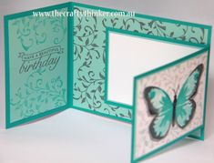 Stampin Up, #thecraftythinker, watercolour wings, joy fold, fun fold, Botanical builder