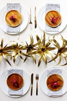 DIY Gold Paper Air Plants