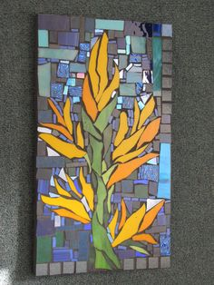 FLOWERS WITH A DIFFERENCE mosaic by Kat Gottke,, an australian mosaic artist