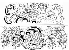 Dessins polychrome - maison de poupée - vitrines miniatures Lace Painting, Painting Words, Painting Patterns, Vitrine Miniature, Quilling, Folk Art, Pattern Design, Decoupage, Decoration