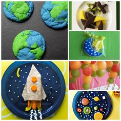 Space Birthday Party Menu featuring Healthy and Creative Party Food Alien Party, Astronaut Party, Food Themes, Party Themes, Ideas Party, Birthday Party Menu, Birthday Kids, Healthy Birthday, Husband Birthday