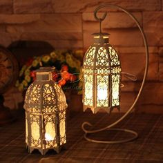 Free Shippig Romantic Classical Iron Beautiful Candle Holders/Lantern Wedding Home Decoration $20.99