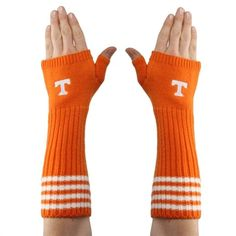 Tennessee Volunteers Women's Striped Knit Arm Warmers