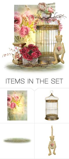 """""""Shabby Bird Cage"""" by sabine-promote ❤ liked on Polyvore featuring art"""