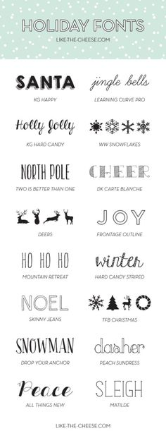 Holiday Fonts (FREE) | like-the-cheese.com