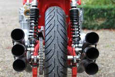 A Shot From The Rear of One of The Original Benelli Motorcycles!