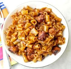 Greek Stewed Octopus in Tomato Sauce with Pasta