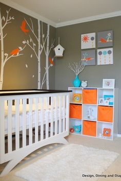 Contemporary Kids Bedroom with Wall decal, Carpet, Mural, Eden Baby Furniture Madison 4-in-1 Convertible Crib