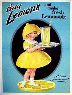I love this advert I definitely have to make my own lemonade once.  #vintage #lemonade #lemon #homemade #swingtime http://ift.tt/2bEpWeB