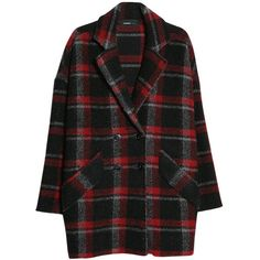 Mango Wool-Blend Check Coat, Black (91 CAD) ❤ liked on Polyvore featuring outerwear, coats, jackets, coats & jackets, black coat, mango coat, black double breasted coat, wool blend double breasted coat and wool blend coat