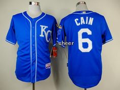 MLB New Jerseys Kansas Royals #6 cain blue Jerseys