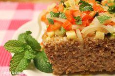 Kibe de Forno com uma deliciosa cobertura de vegetais | Figos & Funghis
