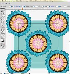 Designing the pattern in Illustrator