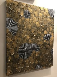Original Abstract Palette Knife Painting will be perfect addition to your home or office. This large metallic silver gold abstract wall decor is full of heavy impasto texture. Add a style and personality to any room in your home with this stunning 3d painting wall decor. Canvas stretched around wood frames and stapled on the back. The look of the metallic paint changes depending on the time of day or the light available. Edges of this unique abstract painting are painted. You dont need to…