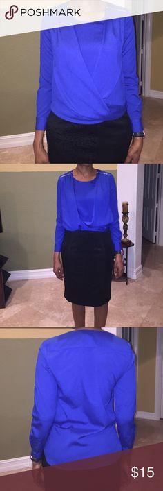 Royal blue Calvin Klein blouse New, no tag. Beautiful blouse Calvin Klein Tops Blouses