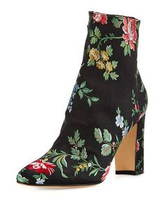 Insopo+Floral-Embroidered+Ankle+Boot+by+Manolo+Blahnik+at+Bergdorf+Goodman.