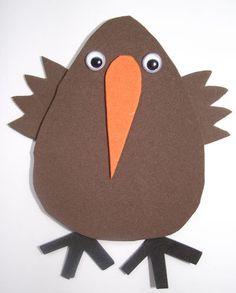 Kiwi magnet craft for kids