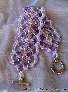 Maroon Bracelet beaded by Joelle Marchese