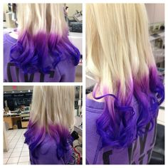 Purple+Ombre+Hair | MY purple ombre ends on blonde hair :)